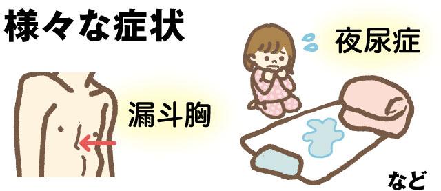 様々な症状 漏斗胸 夜尿症